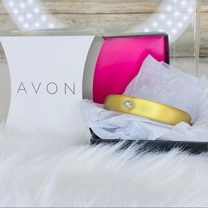 FROSTED EMBELLISHED BANGLE BRACELET - Gold AVON